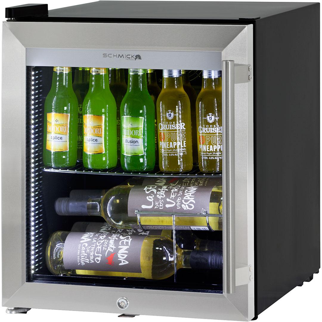Triple glass door bar fridge tropical rated led lighting and lock glass door mini bar fridge tropical rated 50 litre triple glazed wine shelving available eventelaan Gallery