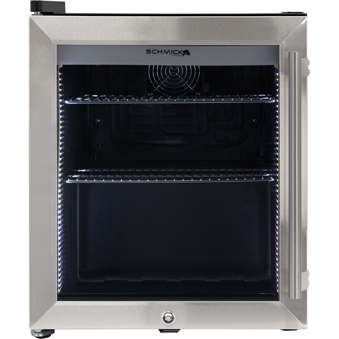 tropical rated with interior fan - Glass Front Mini Fridge