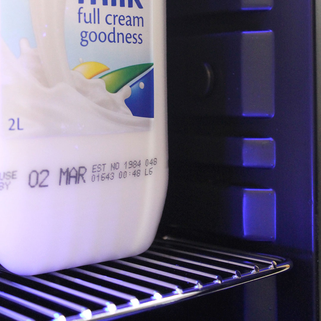 Mini Milk Fridge For Use With Coffee Machines Shelf