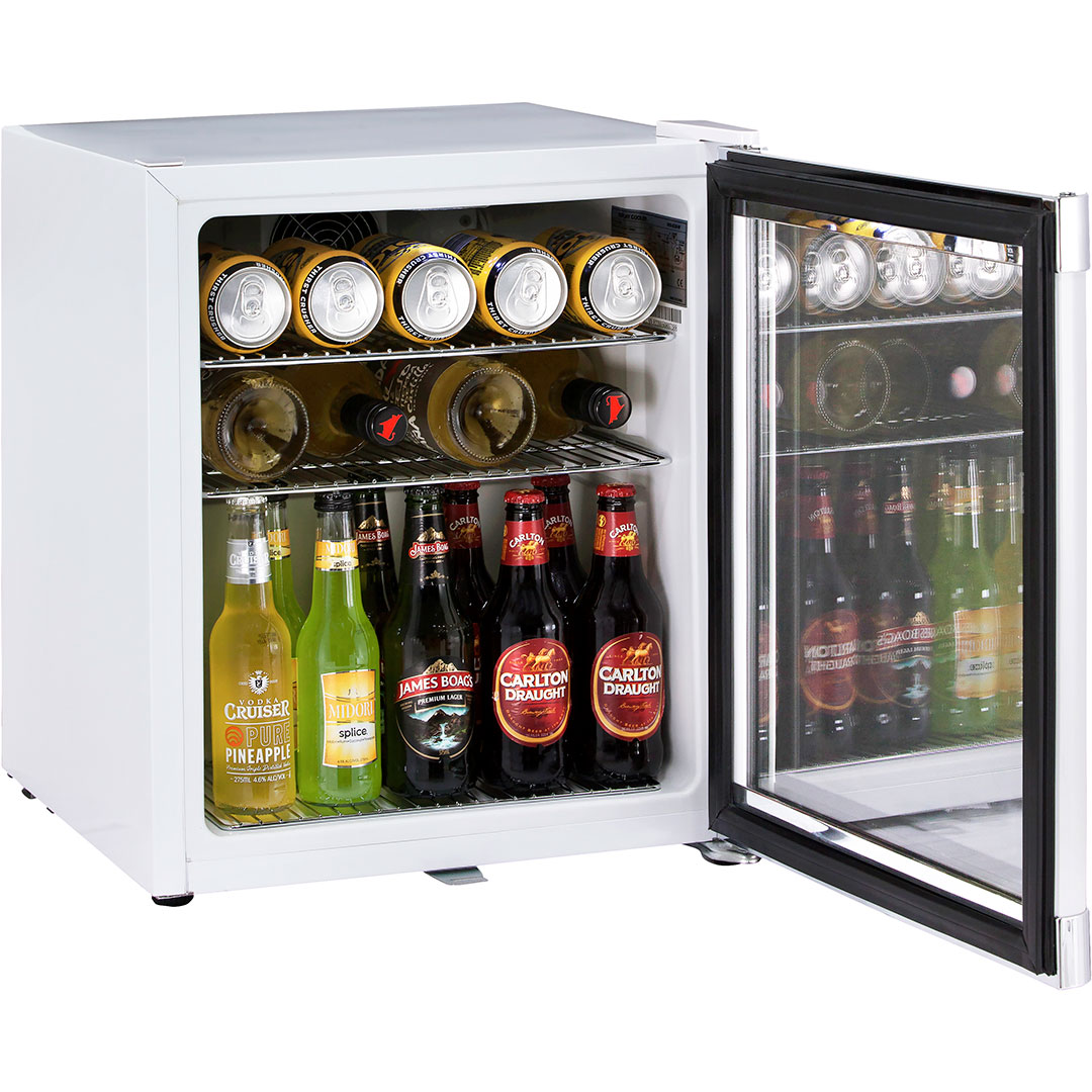 Glass Door Compact Tropical Bar Fridge With Lock Melbourne