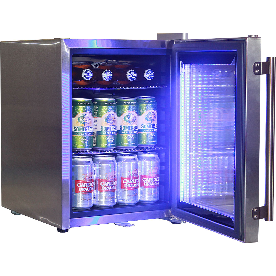stainless steel mini glass door bar fridge - Glass Door Mini Fridge