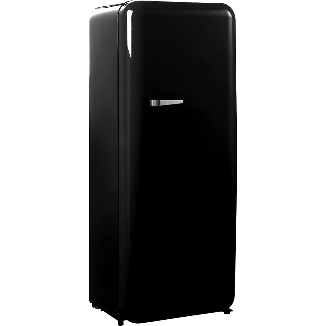 Black Retro Vintage Tall Bar Fridge Refrigerator Great For