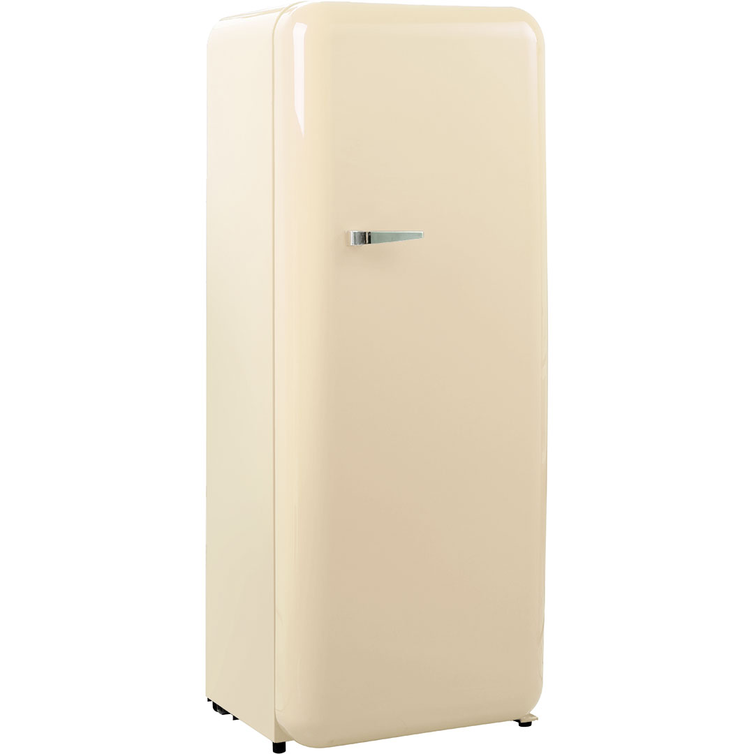 Schmick Tall Ivory Retro Refrigerator With Cool Vintage Style Look