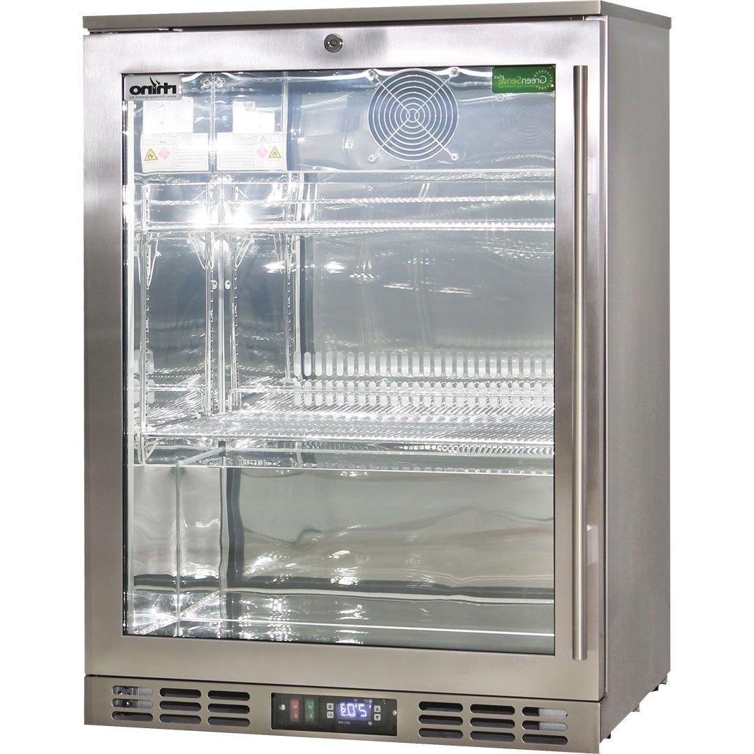 Rhino 1 Door Triple Glass Door Bar Fridge - Low E Glass Helps Prevent Condensation