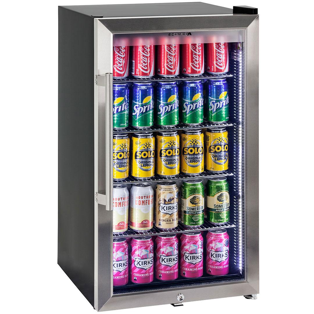 Triple glazed alfresco bar fridge with lock and blue led lights alfresco glass door bar refrigerator schmick sc88 ss eventelaan Gallery