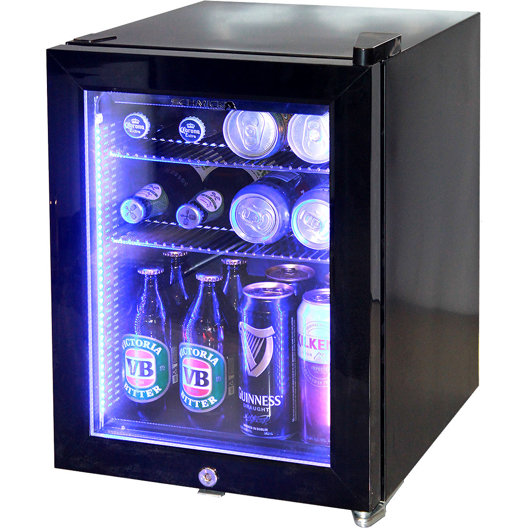 Mini Glass Door Bar Fridge Black Color Model Sc23 Schmick
