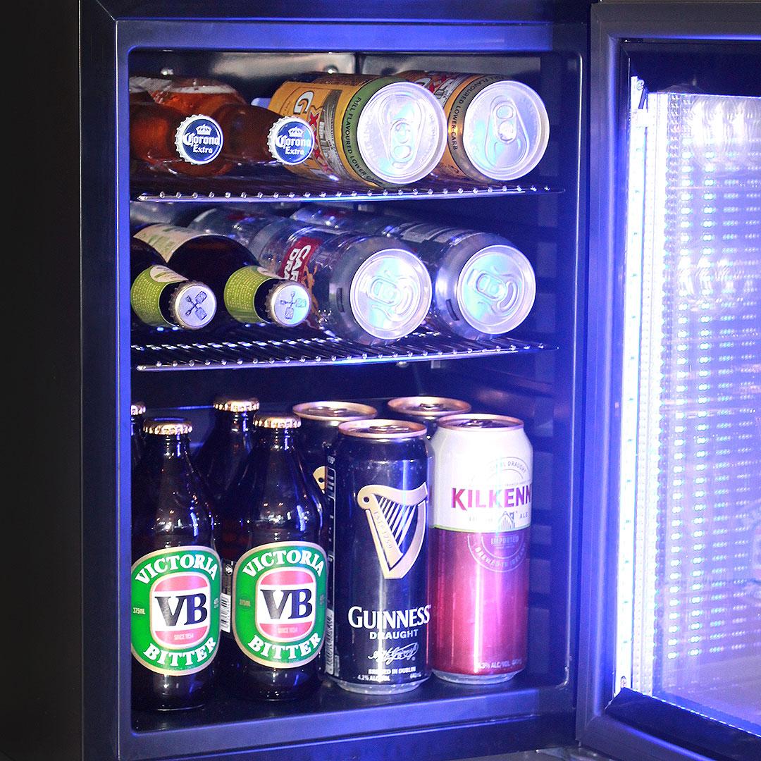 Mini glass door bar fridge black color model sc23 schmick with black mini glass door bar fridge eventelaan Gallery