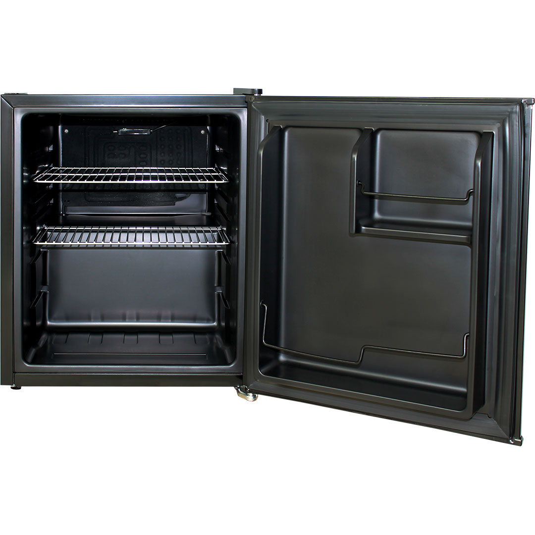 Retro Mini Bar Fridge Black HUS-BC46B-RET