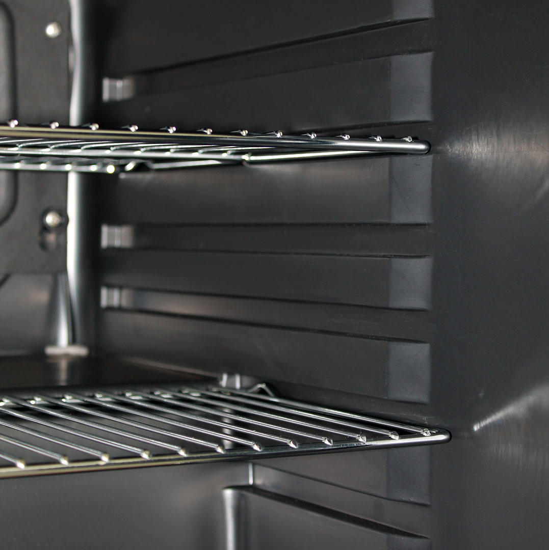 Retro Mini Bar Fridge - Chromed Shelves