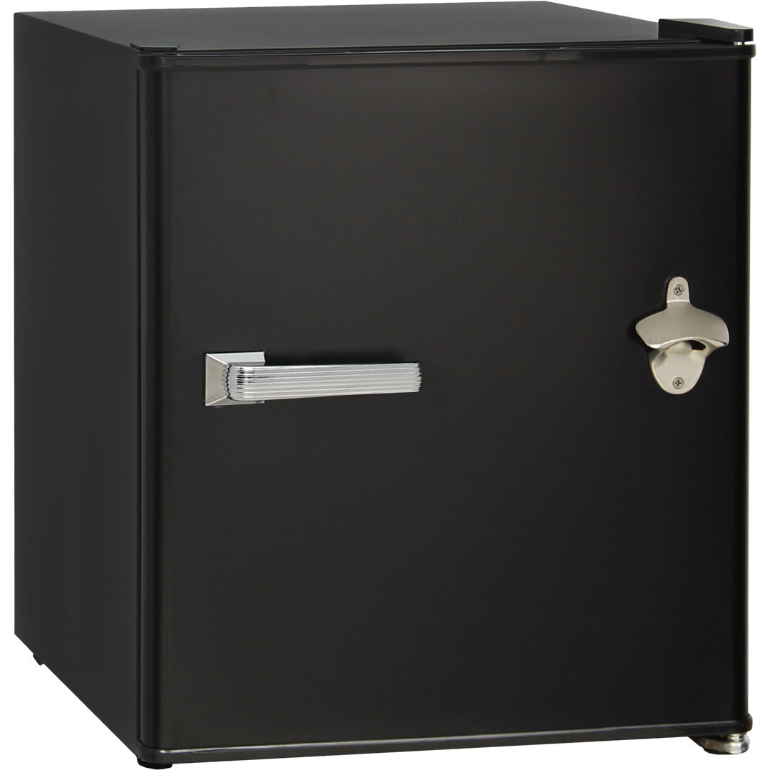 Retro Black Small Vintage Mini Bar Fridge 46 Litre Schmick Brand With Opener