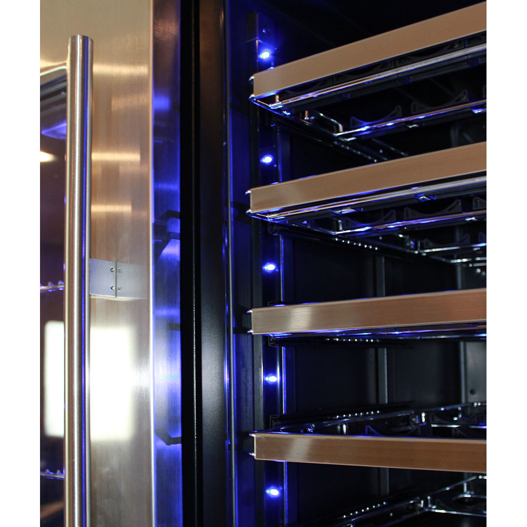 Schmick Dual Zone Wine Fridge - S/S Facia And Chromed Shelves Look Add Touch Of Class