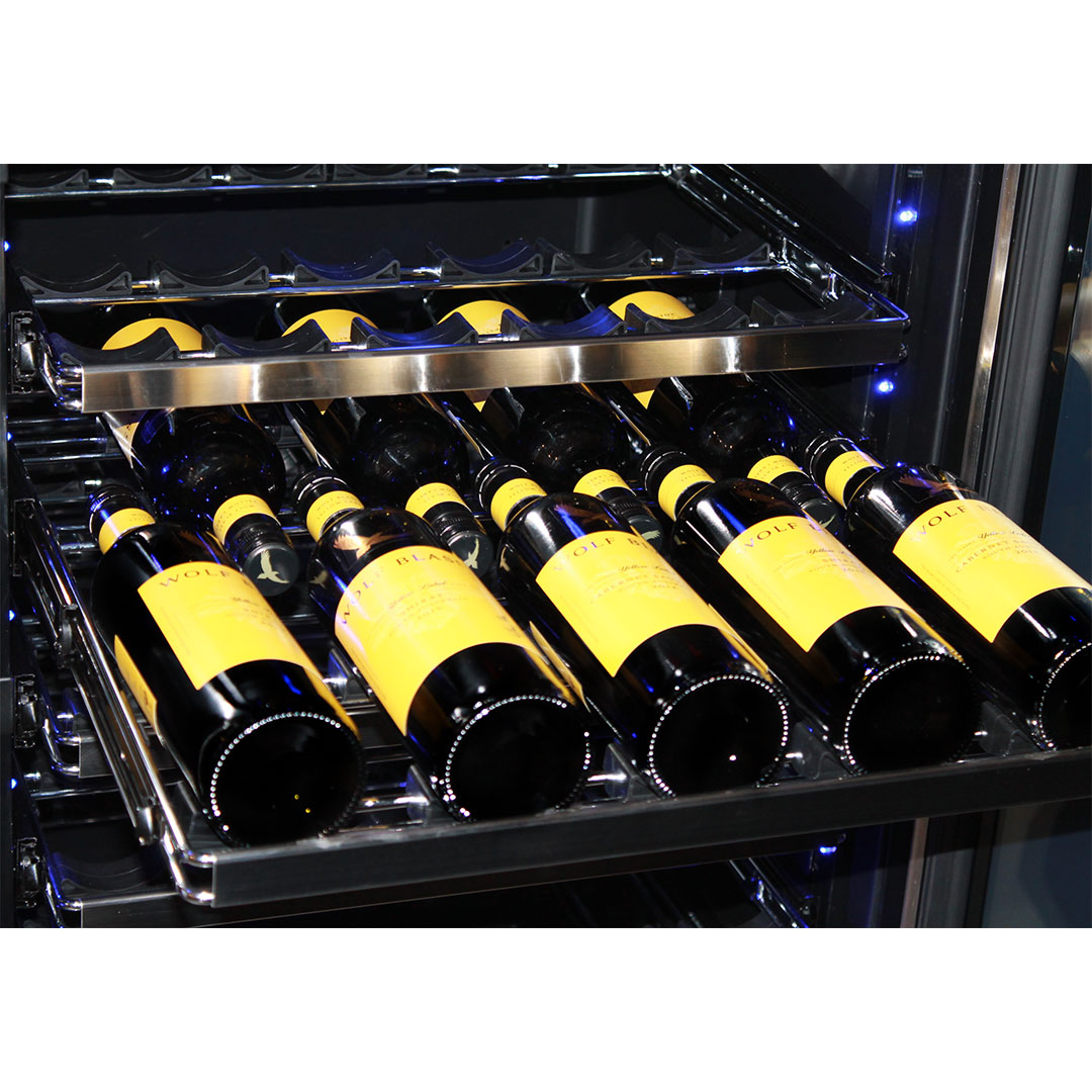 Schmick Upright Beer And Dual Wine Fridge - S/S Facia On Shelves Looks Great
