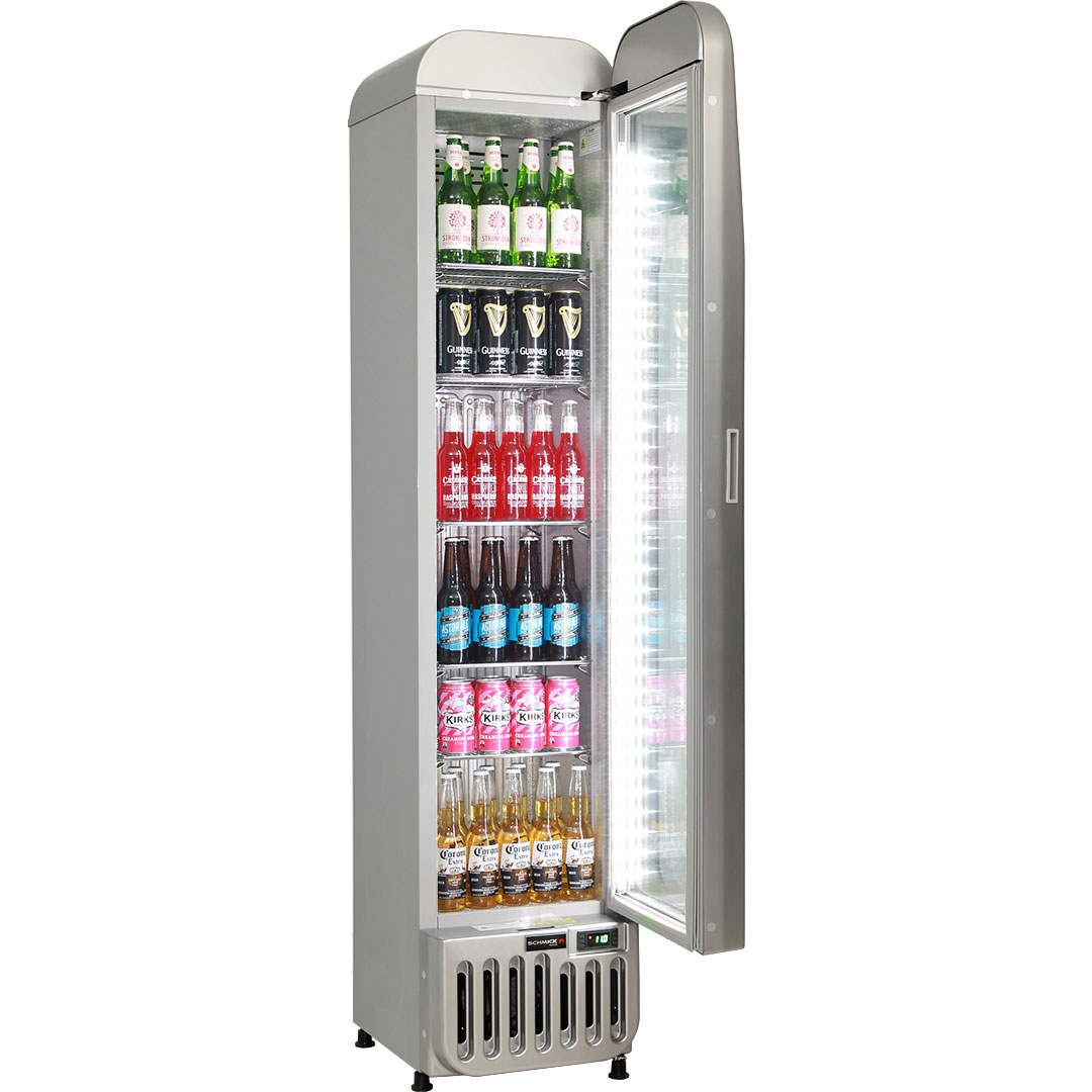 Skinny Tall Bar Fridge - Plenty Of Shelf Adjustments