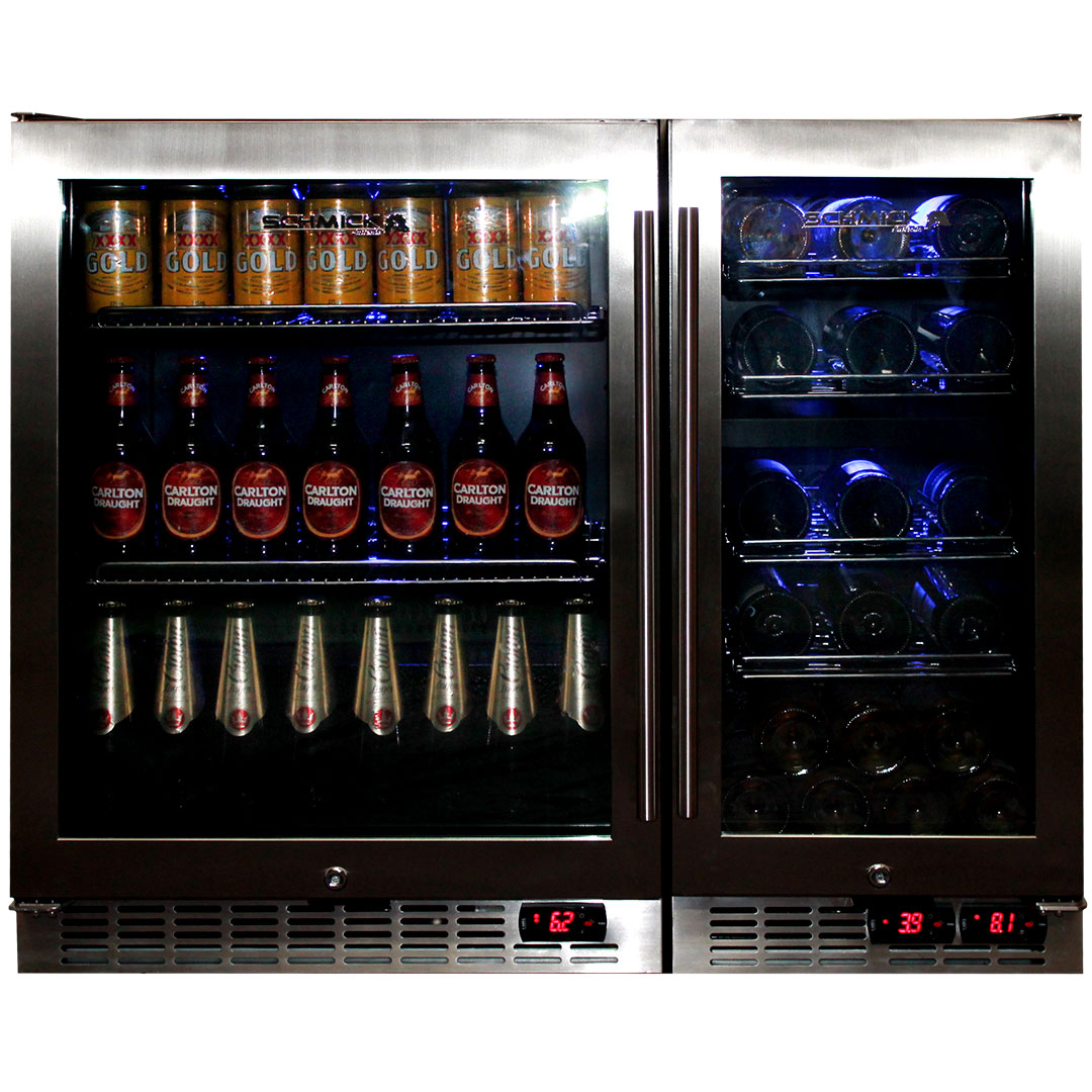 Matching Beer And Wine Glass Door Bar Fridges Model Yc250