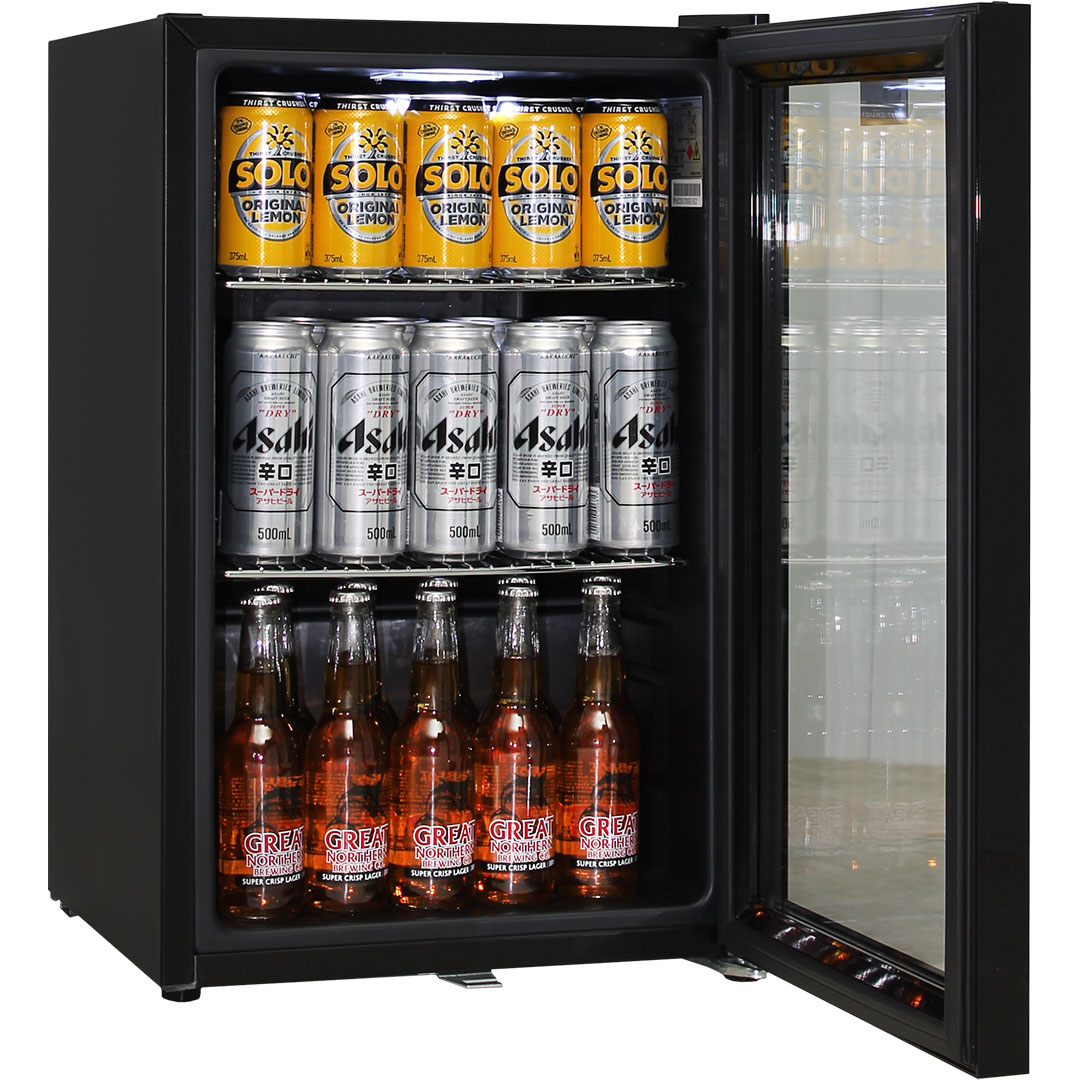 Schmick Black Quiet Bar Fridge - Keeps Cool And Quiet Running, Low Energy