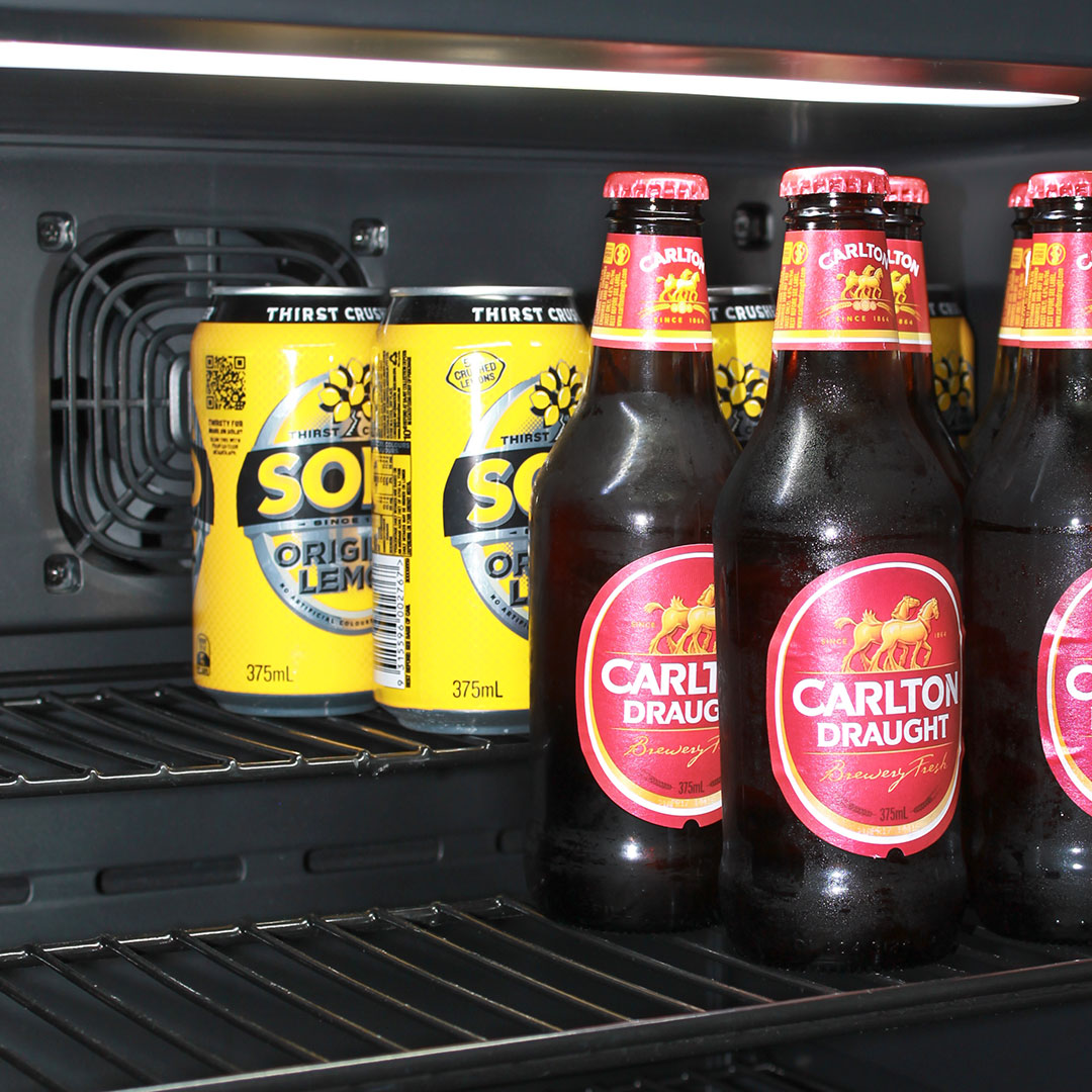 Under Zero Cold Beer Fridge Has 'Split Shelving'