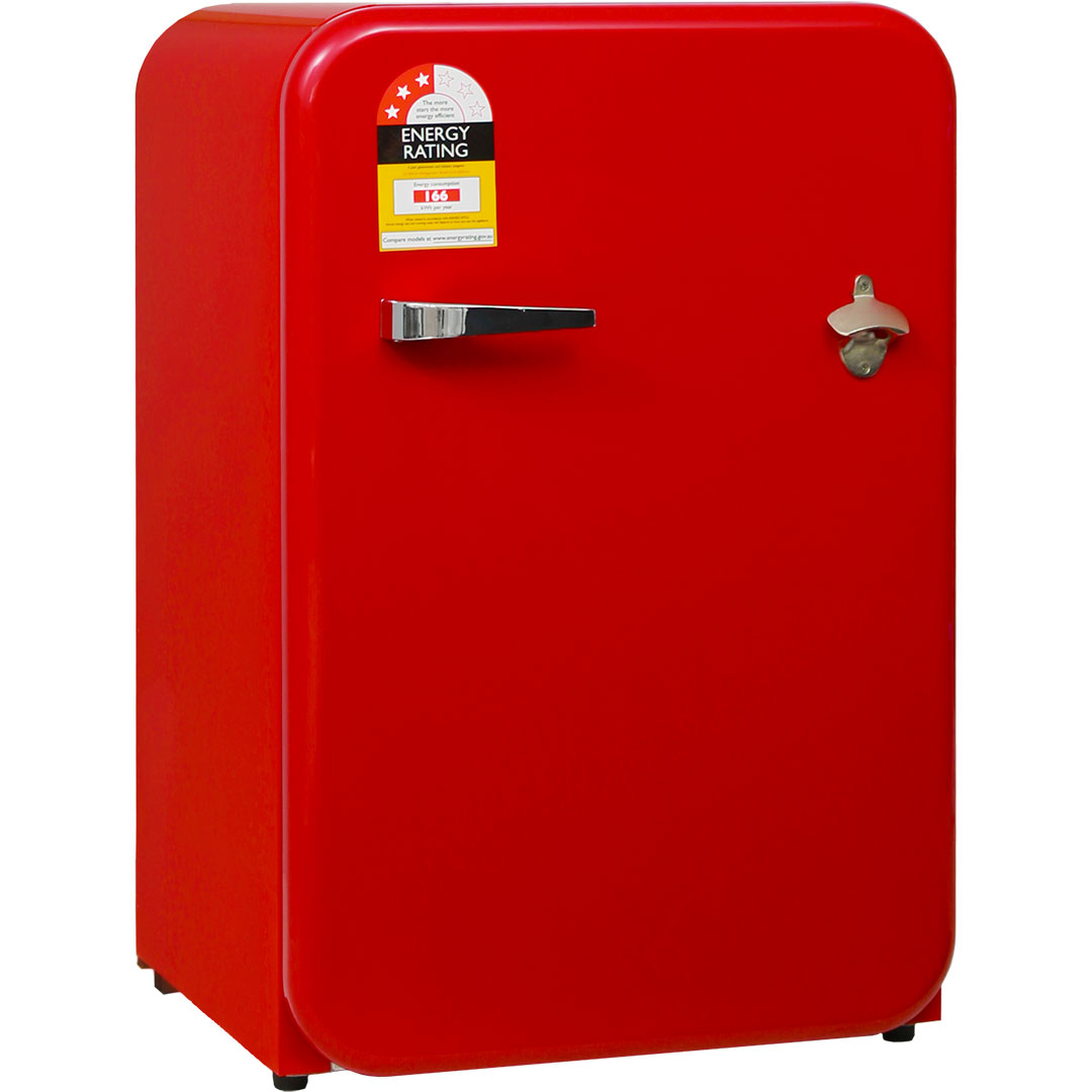 Red Funky Schmick Retro Bar Fridge 110 Litre