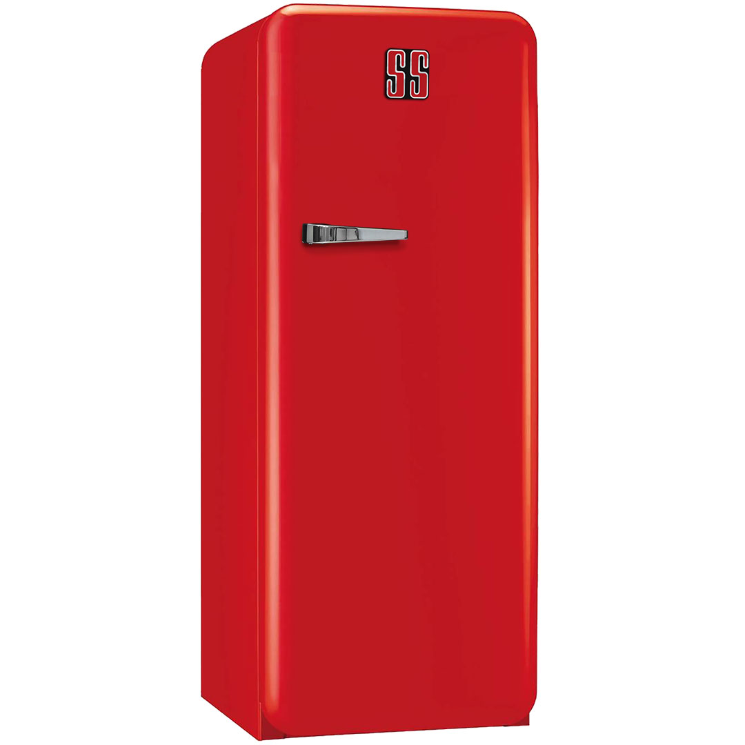 Holden Tall Red Retro Refrigerator With Cool Vintage Style Look