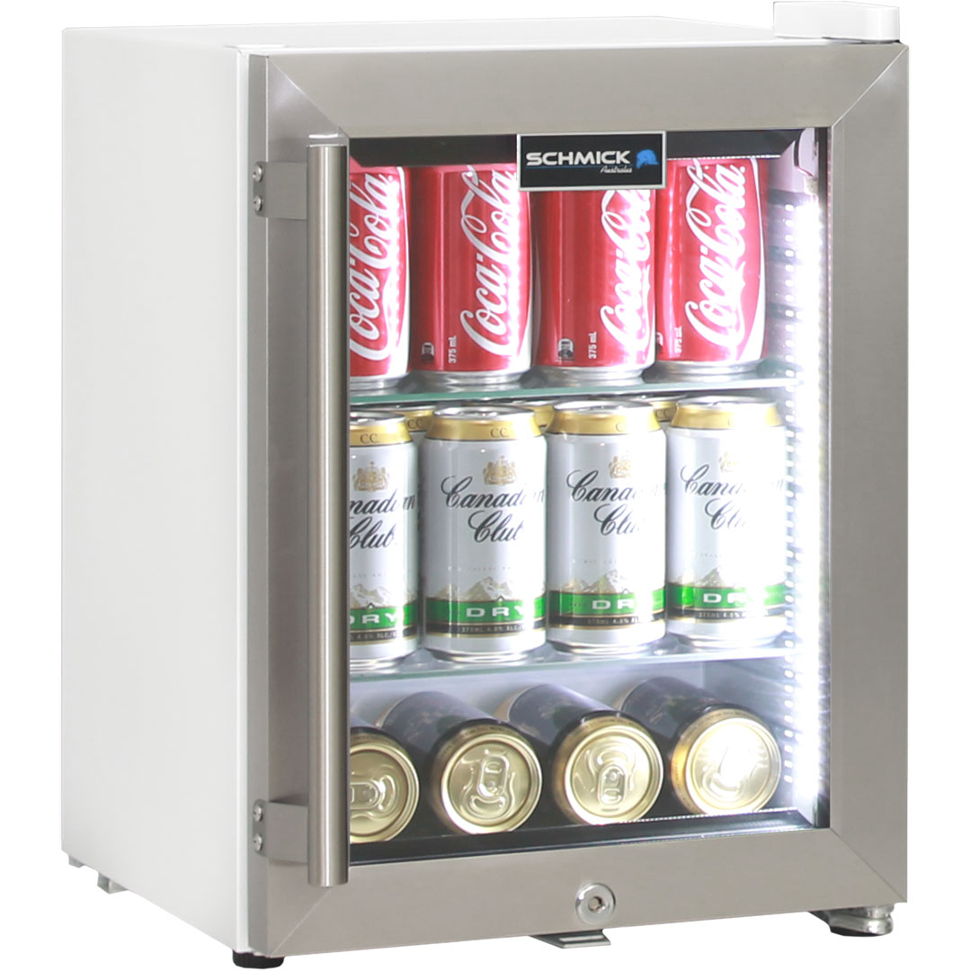 Cosmetics / Drinks Mini Bar Fridge With lock, self closing door and triple glazing