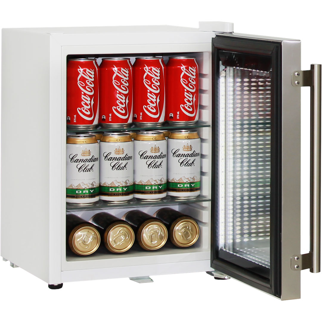Cosmetics / Drinks Mini Bar Fridge - Planty of options for storage, 10 heights of shelf adjustments