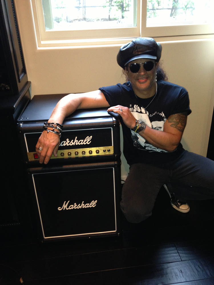 SLASH Digs the Marshall Fridge, and he didn't even want to be a musician! He worked at a grocery store and was the guy that reduced the prices on big sales! It's where he got nickname.