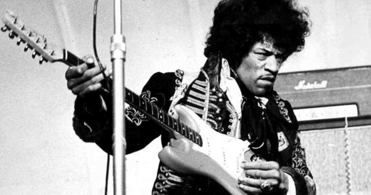 1969 Fender Stratocaster, original pick-ups, maple neck, strung upside down for a left-handed MF-ing genius, Jimi Hendrix
