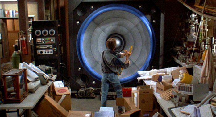 I'm tipping Marty McFly didn't know the Doc had installed 'Marshall Amp Power' when he strummed this one!