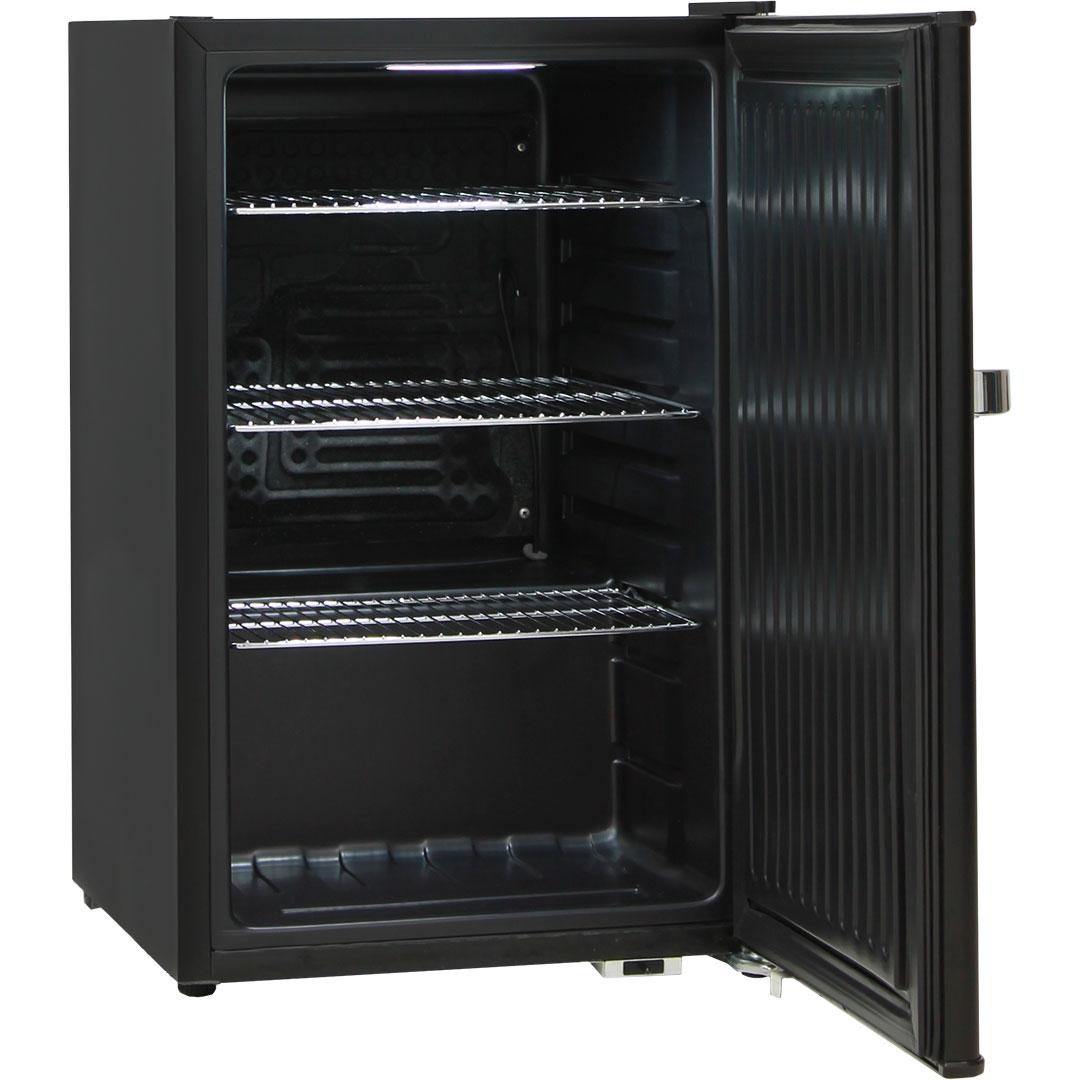 Retro Black Bar Fridge BC70 - Plenty OF Shelving Arrangements