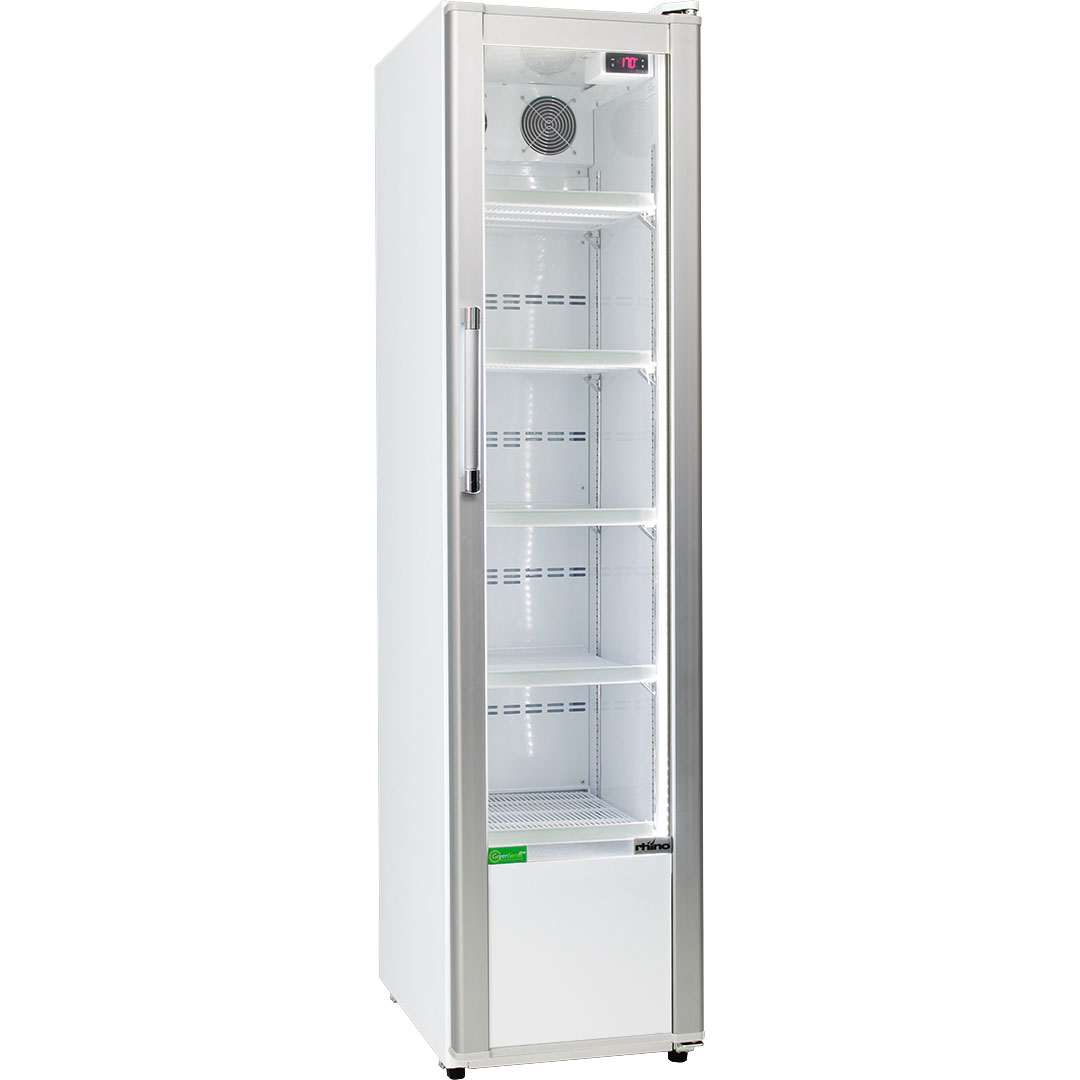 Rhino Skinny Upright Commercial Bar Fridge - 330Litre, 450mmWide, Great For Tight Spots
