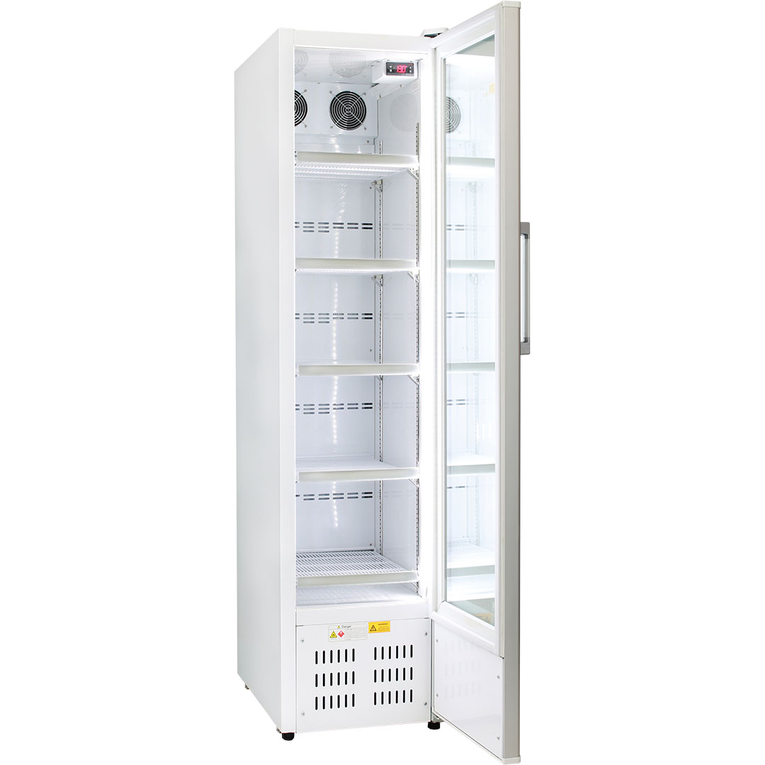 Rhino Skinny Upright Commercial Bar Fridge - Triple Glazed With LOW E Glass