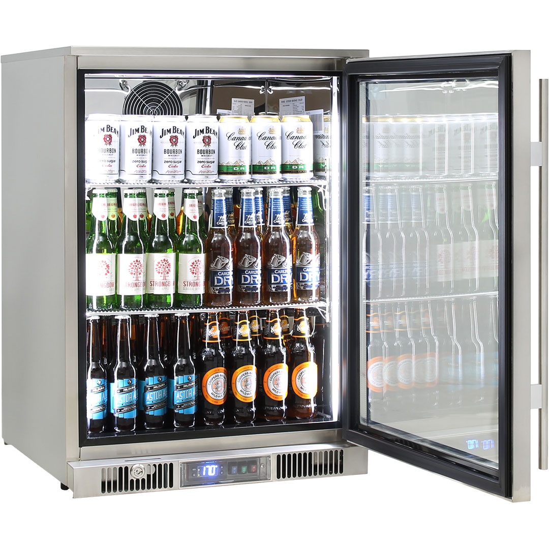 Rhino Envy 1 Door Alfresco Bar Fridge - German Rear Fans Are From The EBM EC Range, Running 70% Cheaper Than Normal Fans