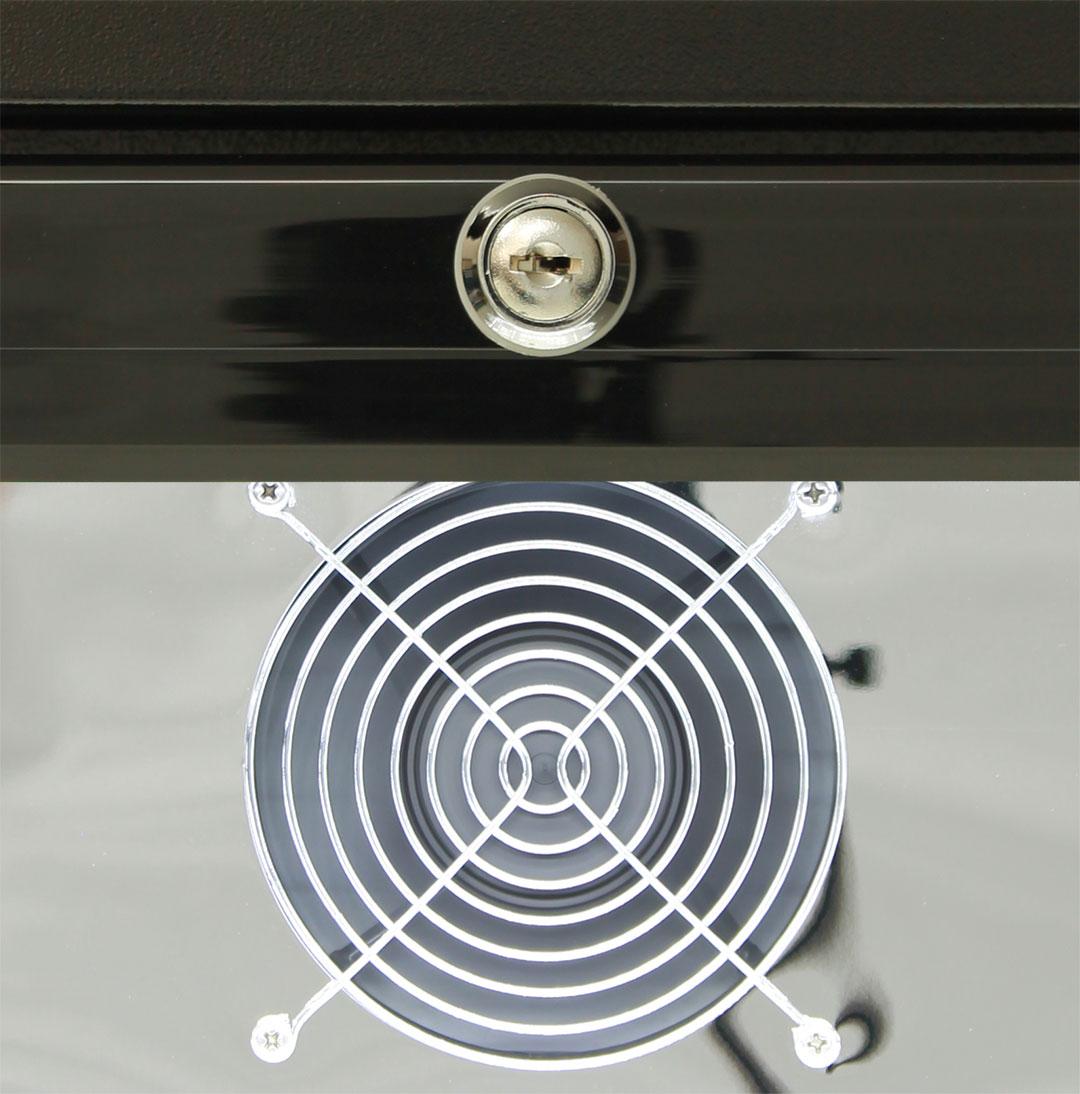 Quiet Running Indoor Rhino Bar Fridge Model SG1Q-Combo - German EBM Ultra Energy Efficient Fans