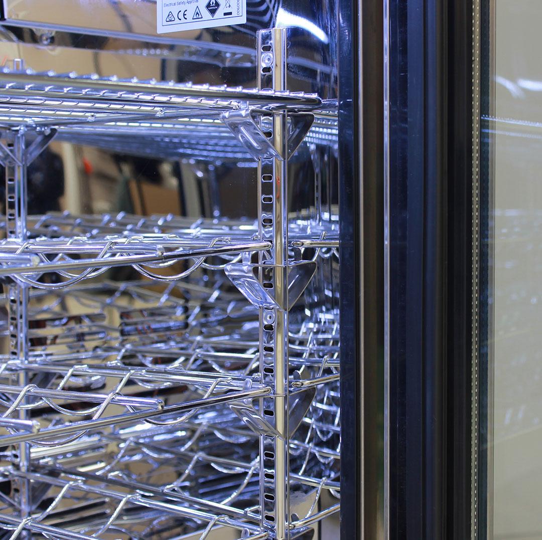 Rhino 1 Door Heated Glass Door Bar Fridge - Wine Shelving Available On Request
