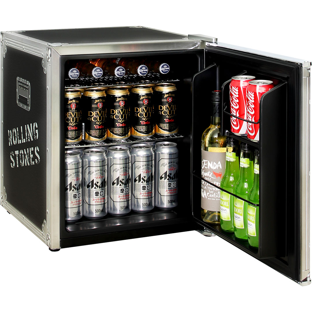 Rolling Stones Mini Bar Fridge - Keeps Nice And Cold With Sub Tropical Rating