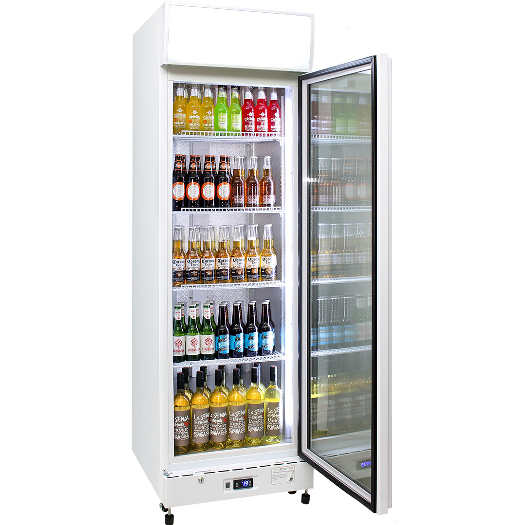 Schmick 1 Glass Door Commercial Bar Fridge - Plenty Of Room With 420Litre