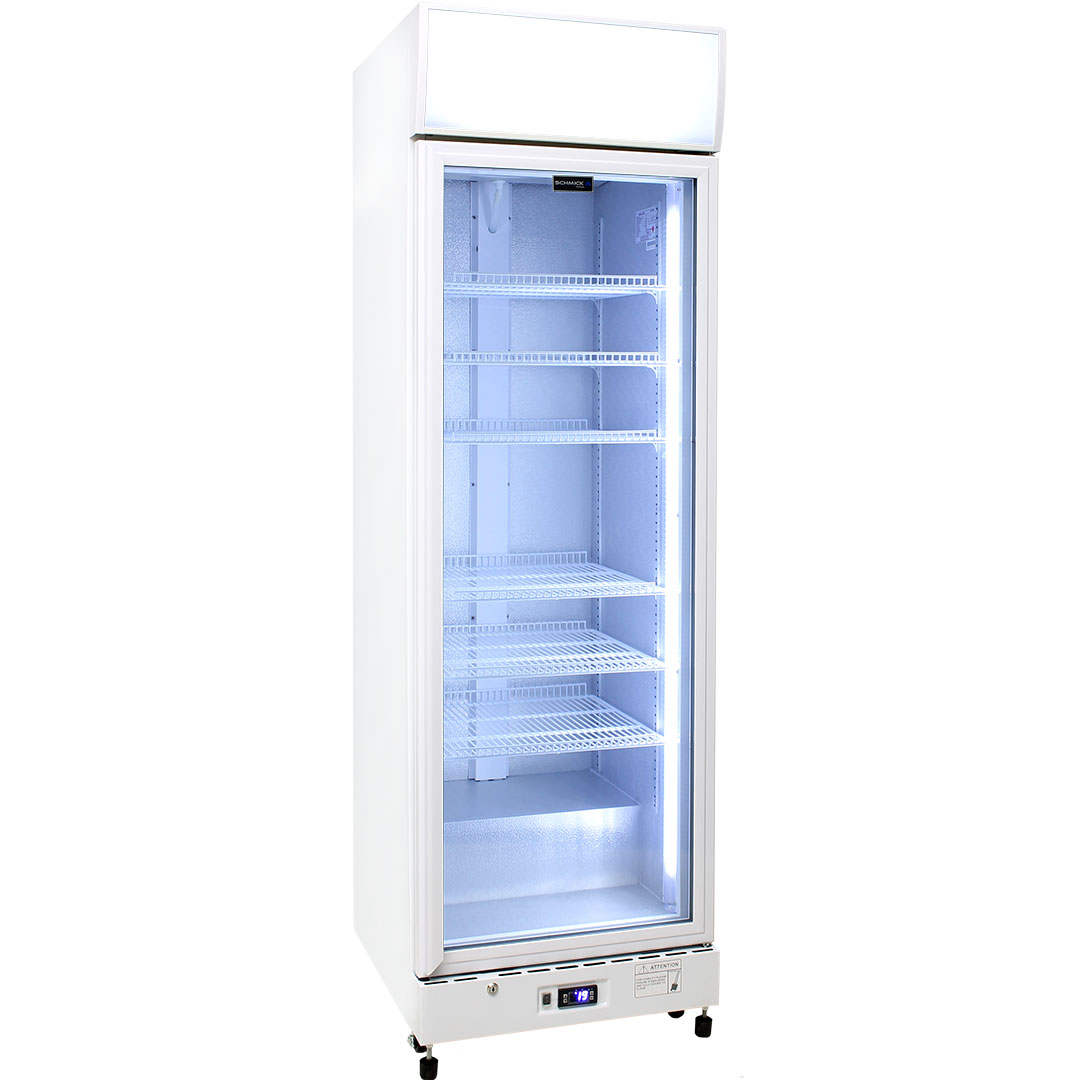 Schmick 1 Glass Door Commercial Bar Fridge - Add Shelves (see to right), unit supplied with 4.
