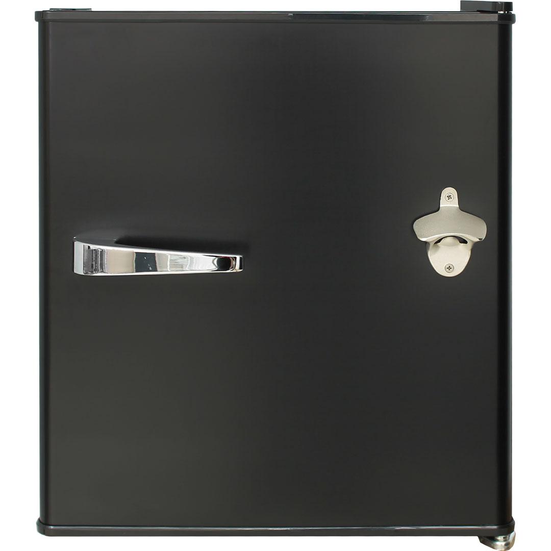 Retro Black Bar Fridge BC70 - Handle And Opener