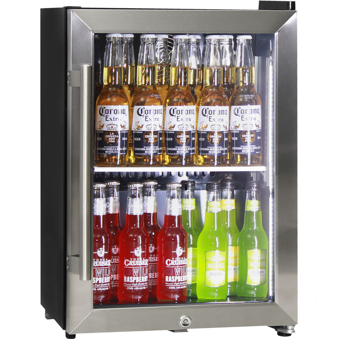 Schmick Shallow Depth Mini Triple Glass Door Bar Fridge - Only 350mm Deep!