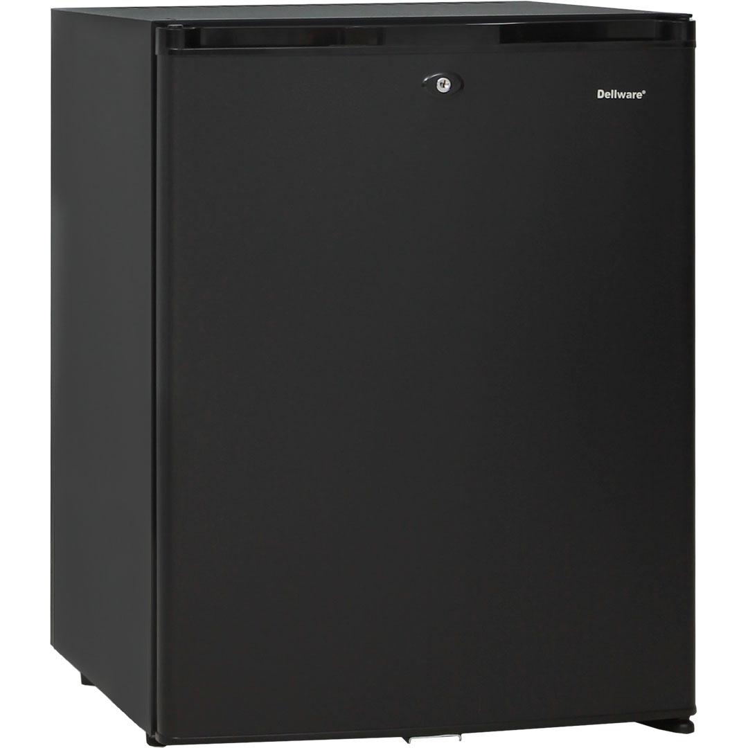 Dellware Silent Mini Bar Fridge - Elegant Design All Black