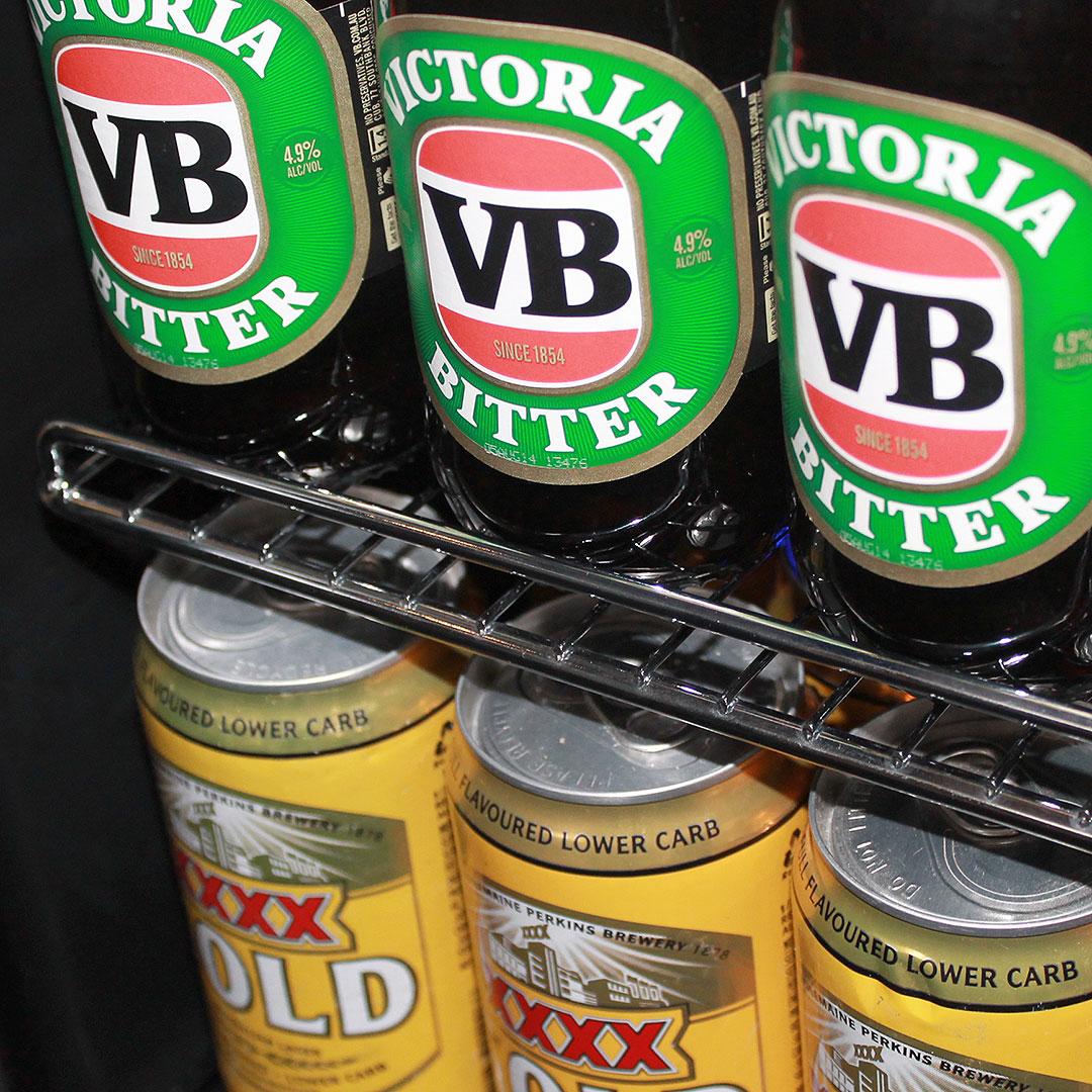 Schmick Beer And Wine Matching Indoor Quiet Running Fridge Combination Model SK151G-Combo closeup