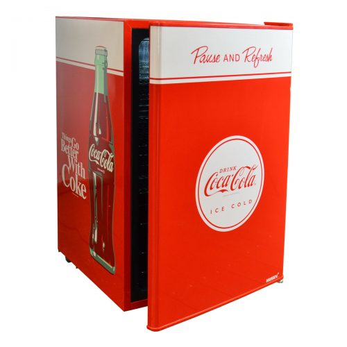 Coca Cola Retro Mini Glass Door Bar Fridge Looks Great