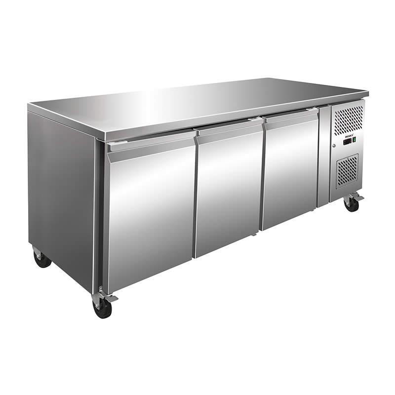 Husky 3 Door Commercial Food Preparation Bar Fridge  sc 1 st  Bar Fridges Australia & Husky 3 Door Preparation Counter Stainless Steel Food Service ...