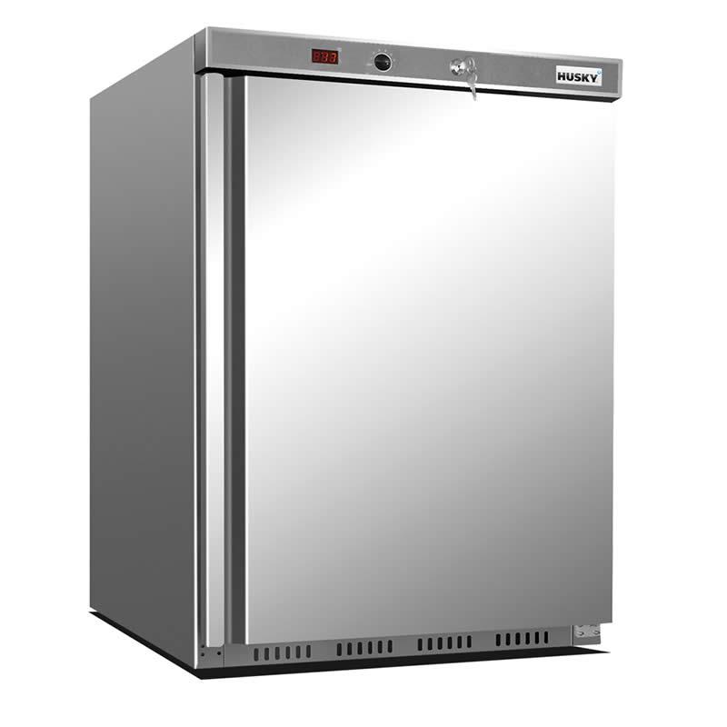 Husky 1 Door Stainless Steel Under Counter Refrigerator