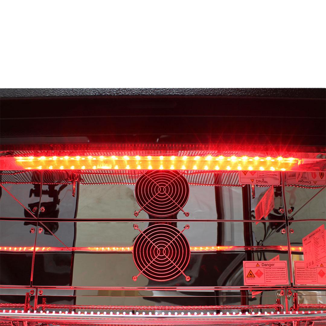 Rhino Nightclub Pub Bar Fridge With Multi LED Light Options -  Unit Has Brand Parts Designed For Reliable Operation