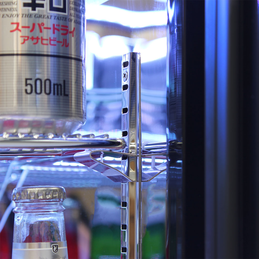 Rhino Nightclub Pub Bar Fridge With Multi LED Light Options -  Strong S/Steel Clips And Shelving Runners