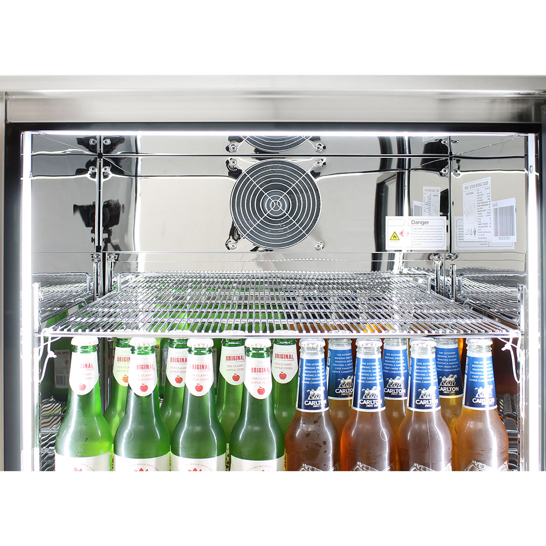 Rhino Envy 1 Door Alfresco Bar Fridge - Special Heavy Duty Shelving With Double The Bars Means Nothing Topples and Fully Loaded There Is No Sag
