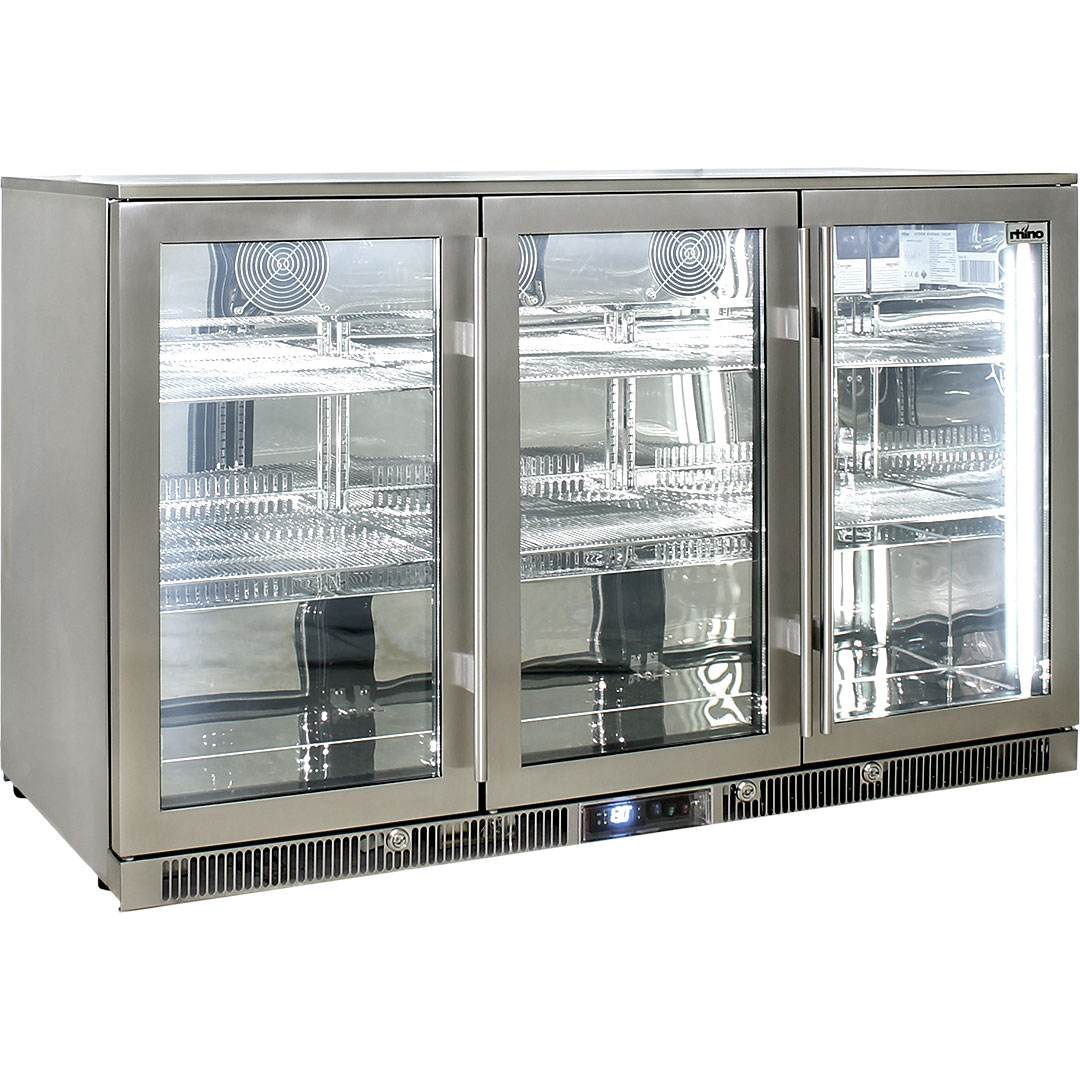 Rhino Envy 3 Door Bar Fridge - Works Excellent In Well Over 43oC Ambient Temperatures With No Condensation In Up To 99.5% Humidity (RH)