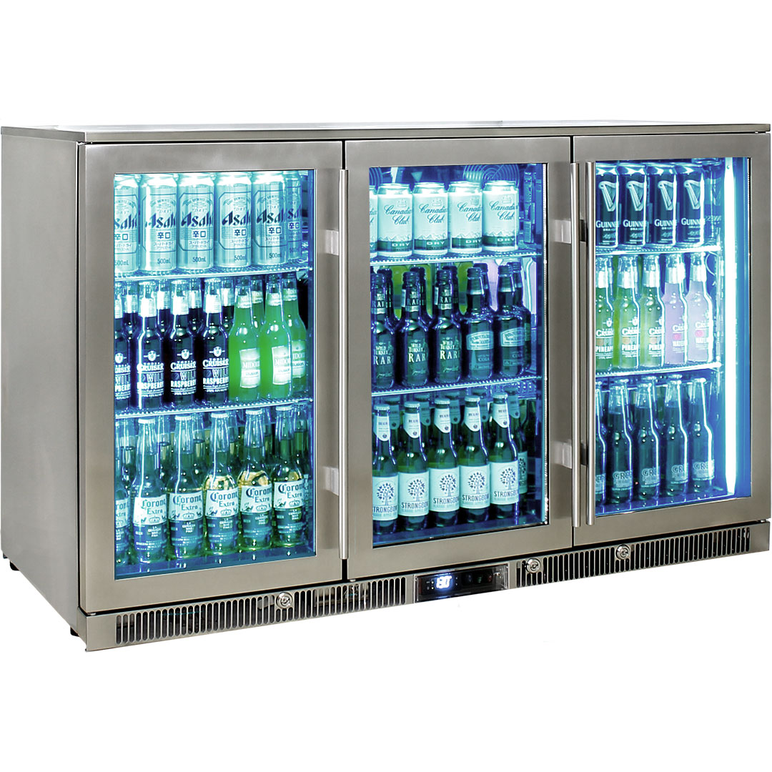 Rhino Envy 3 Door Bar Fridge - The Blue Led Looks Pretty Shweeet I Reckon
