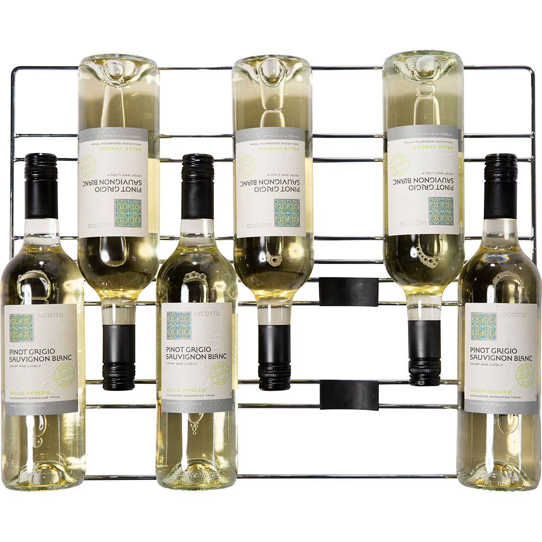 Rhino Envy 1 Door Bar Fridge - Patented Side Moving Rubber Saddles For Wine Bottles (No Rolling And Touching, All Sizes Fit)