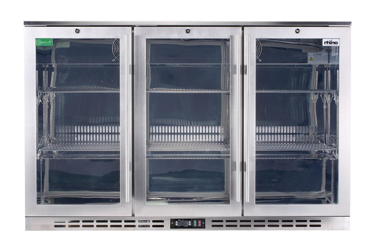 Heated 3 Door Alfresco Fridge Rhino Long Bar Handle, Light And Power Switches Easily Accessible